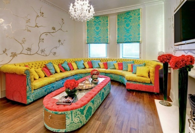 decoration interieur salon couleurs