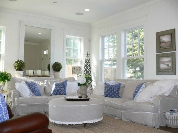 decoration salon design blanc