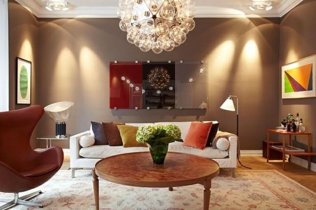 design moderne salon peinture