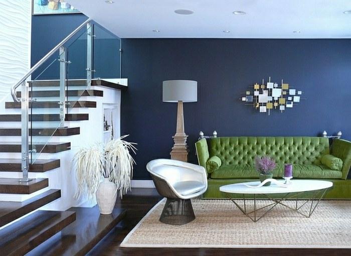 salon moderne intérieur design lampe objets design canapé argent