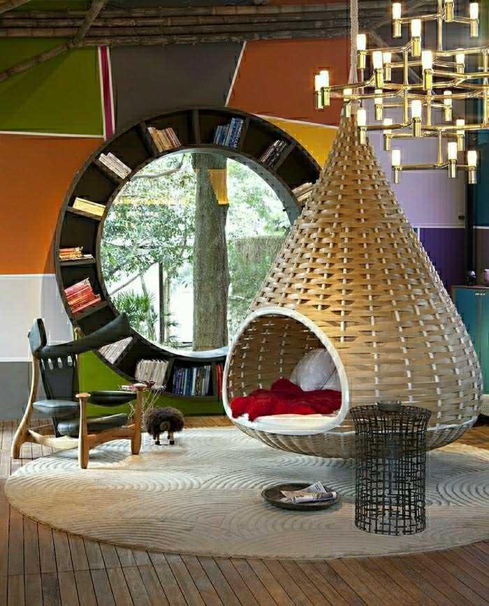meuble design restnest dedon très à la mode intérieur salon contemporain rangements bibliothèque