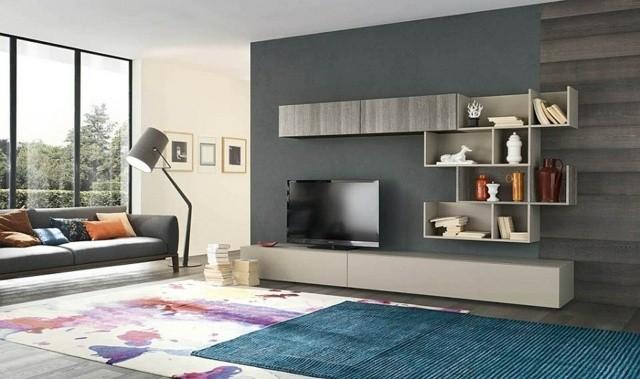 meuble TV mural moderne ecologique