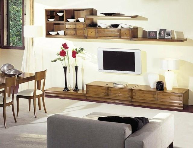 décoration salon design bois