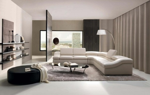 meuble salon design hitech cloison