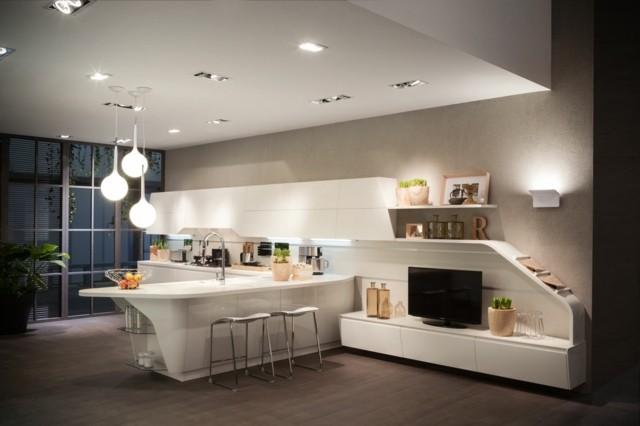 décoration salon design ouvert cuisine