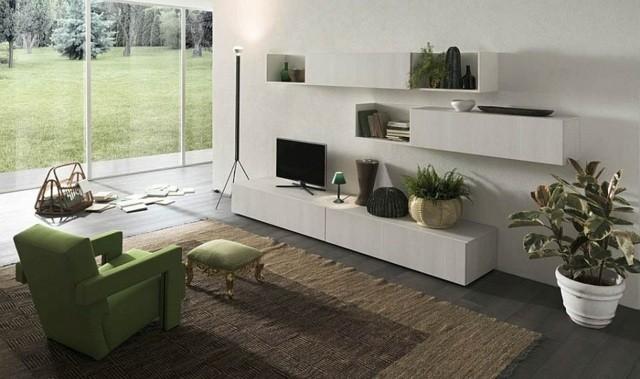 meubles muraux salon bois ecologique Alf Group