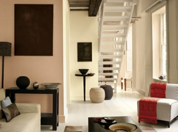 murs salon peinture beige
