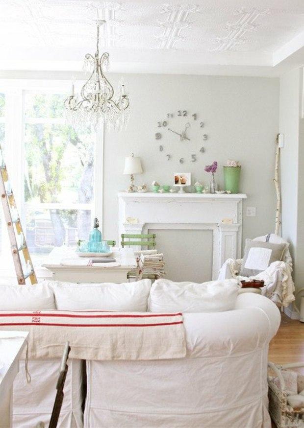 salle de sejour decoration blanc