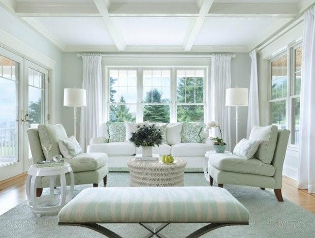 salon blanc deco elegante