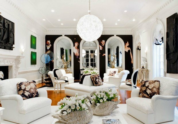 salon blanc deco interieur originale