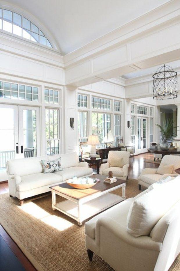 salon design original blanc
