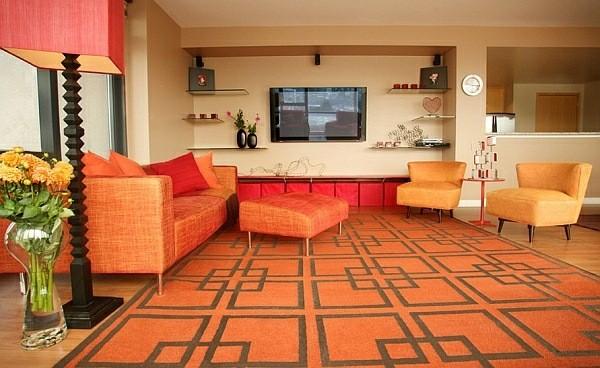 salon design retro orange