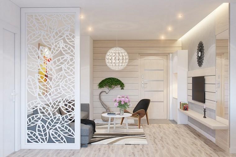 salon moderne revêtement bois couleurs