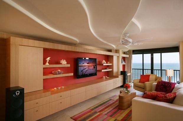 superbe salon moderne plafond dynamique