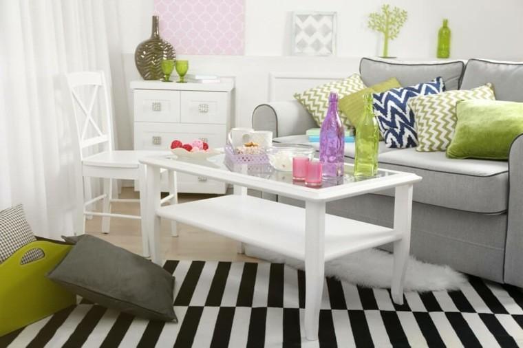 table basse salon couleur objet deco idee