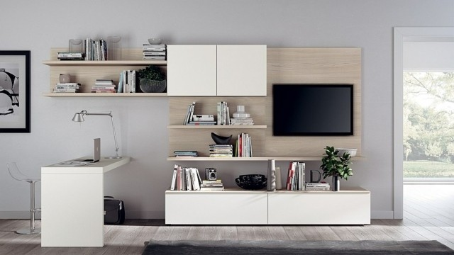 meuble salon modulabe TV bureau