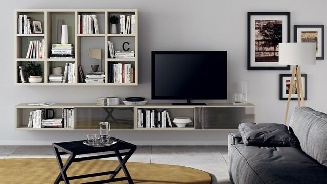 unité polyvalente modulable Motus meuble TV bibliothèque