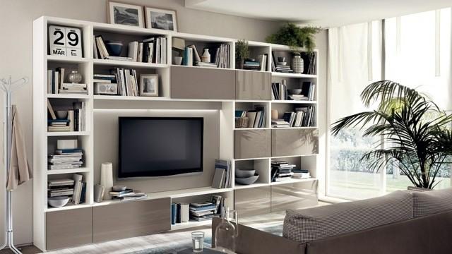 unité polyvalente modulable Motus TV bibliothèque