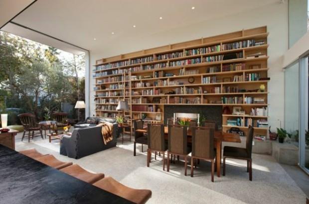 beau meuble bibliothèque tout en bois