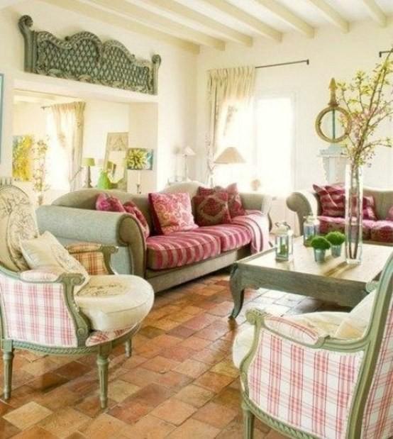 Canapé de salon design décoration fleurs printemps fauteuil plantes