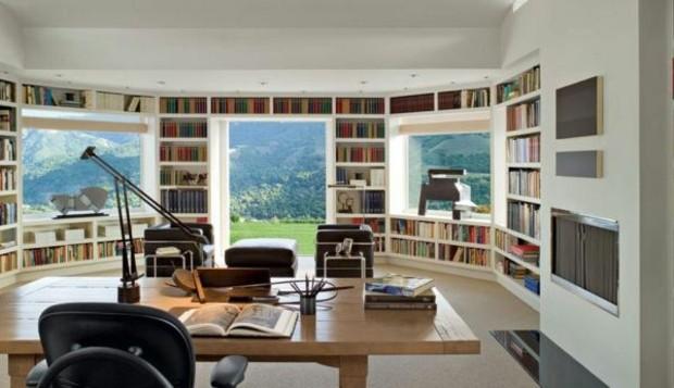 murs revêti étagères encastrées pour- livres