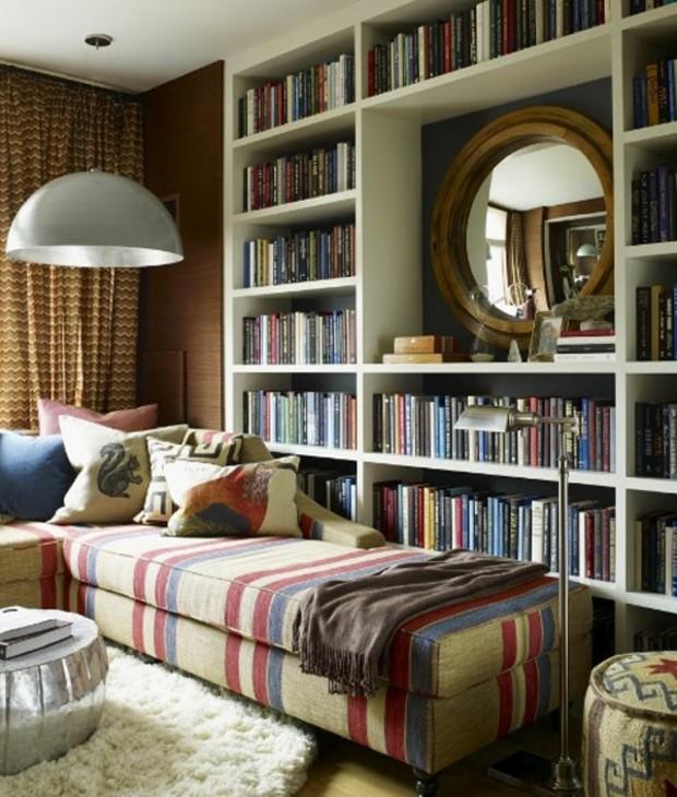rayures au meuble rappellent livres bibliothèque
