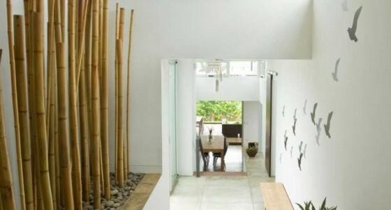 bambou déco interieur moderne couloir