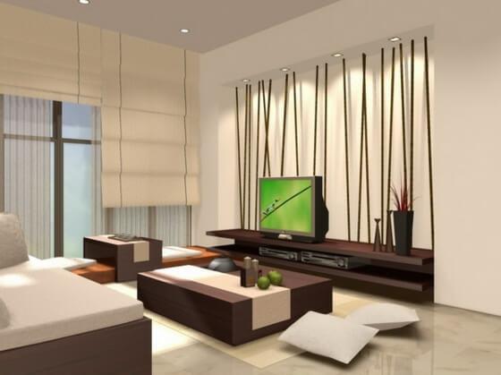 bambou déco salon design moderne