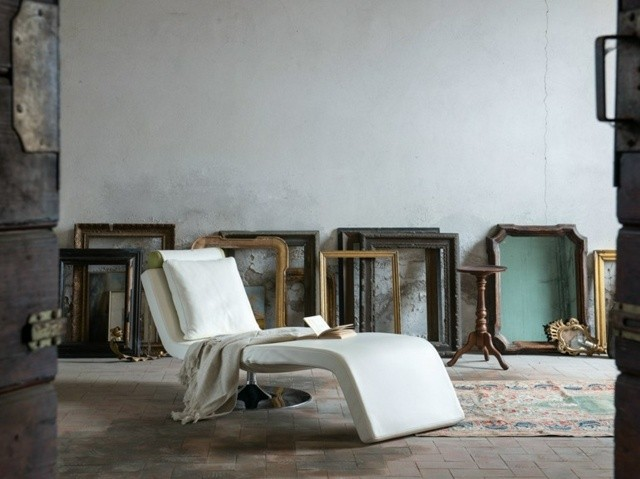 chaise blanche design salon meuble