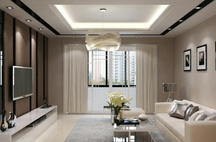 décoration intérieur salon moderne nuances beiges