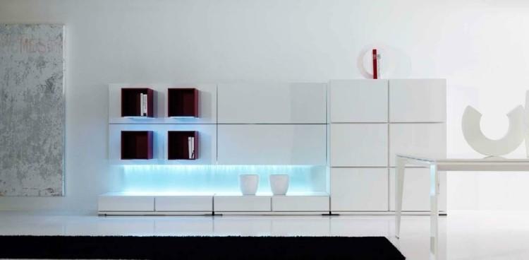 décoration intérieur salon moderne blanc