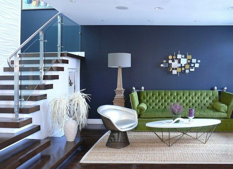 décoration salon moderne canape vert