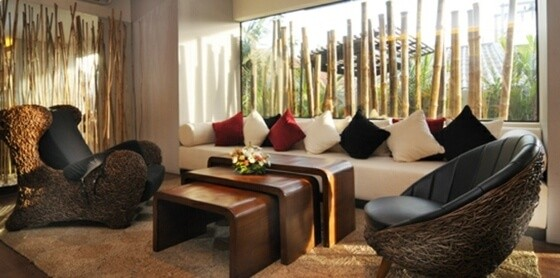 deco murale salon moderne bambou
