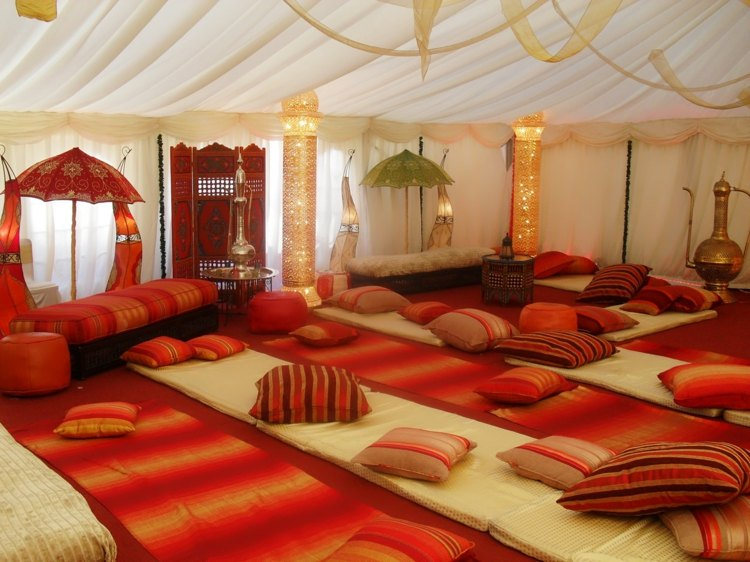 deco originale salon marocain traditionnel