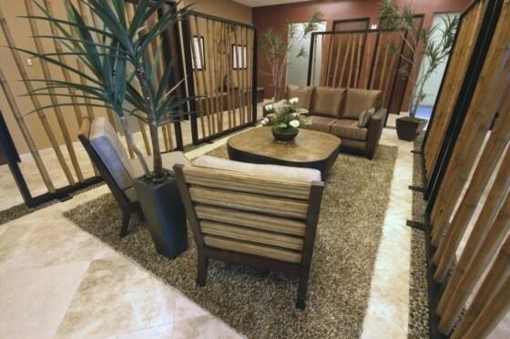 deco salon moderne design bambou