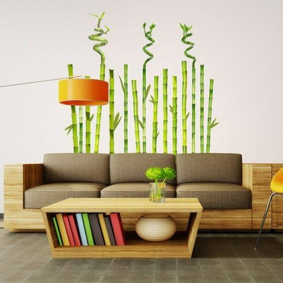 deco salon plante bambou