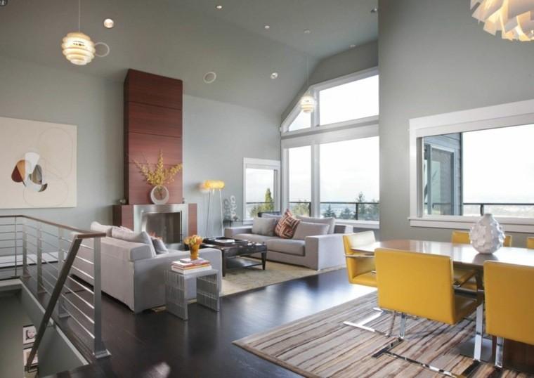 décoration salon et salle à manger couleurs mur