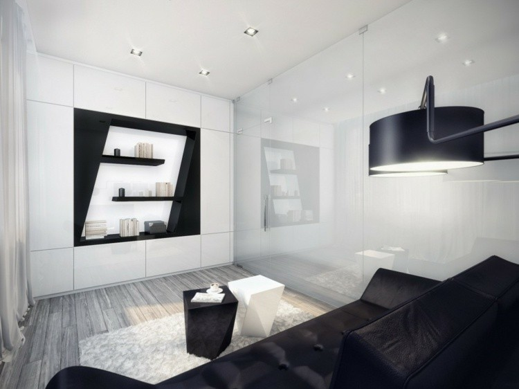 design salon original noir blanc
