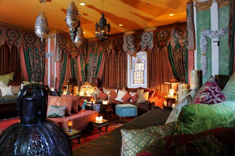 grand salon deco style marocain
