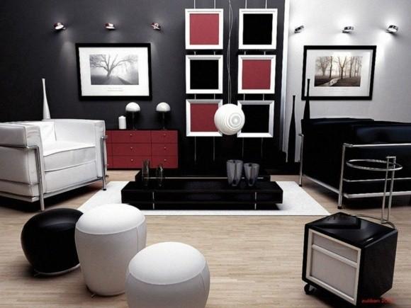 idée couleur salon contemporain