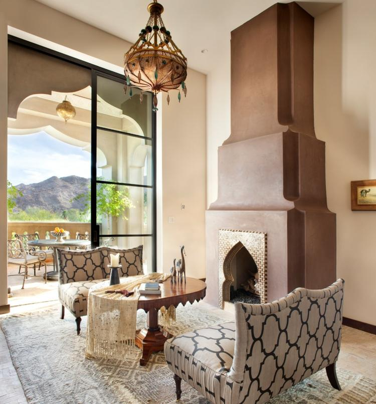 idee decoration marocaine salon moderne