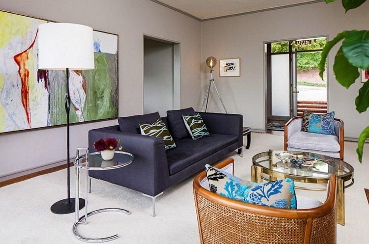 idee design salon moderne lampadaire