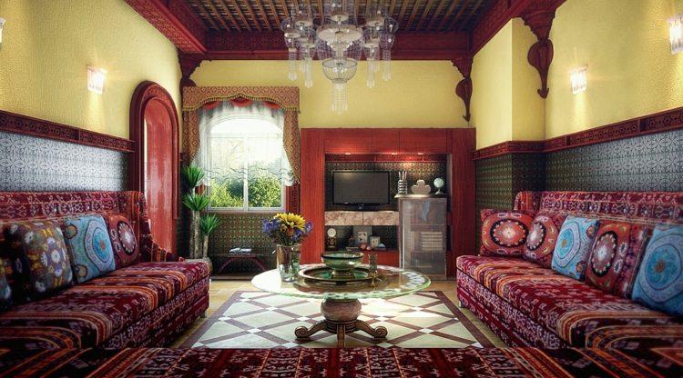 modèle de salon marocain moderne astuces