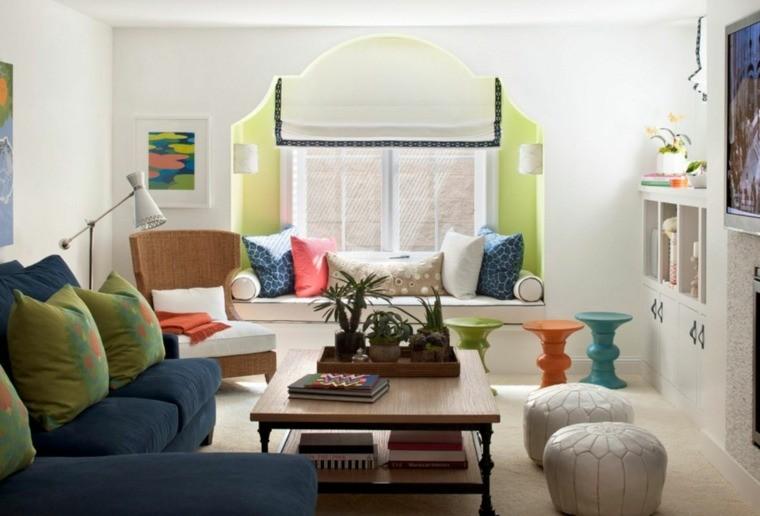 modèle de salon marocain moderne pouf canapé sofa