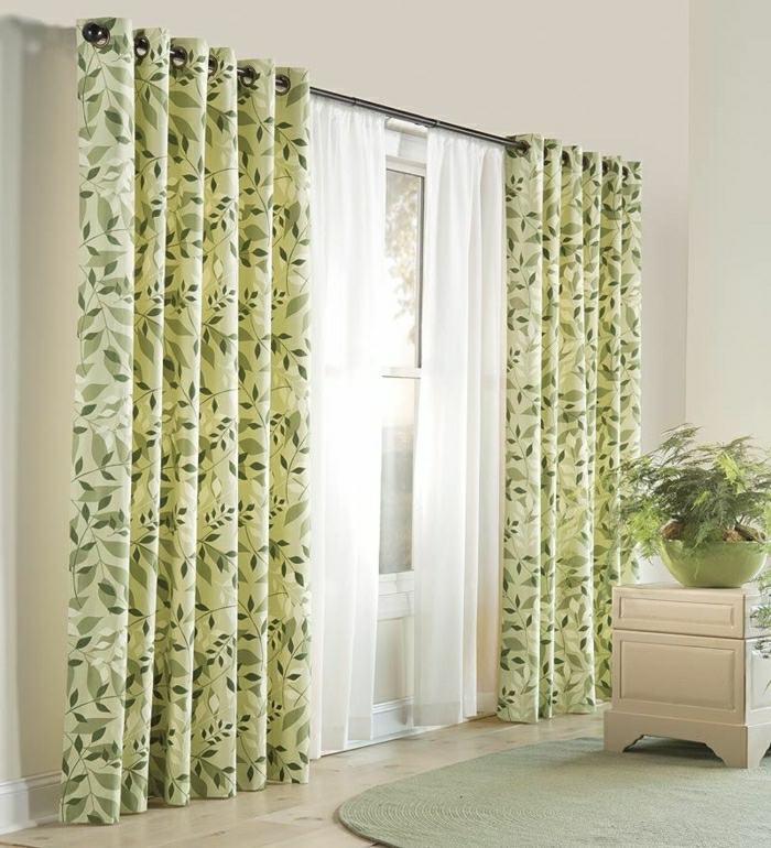 motifs floraux rideaux modernes