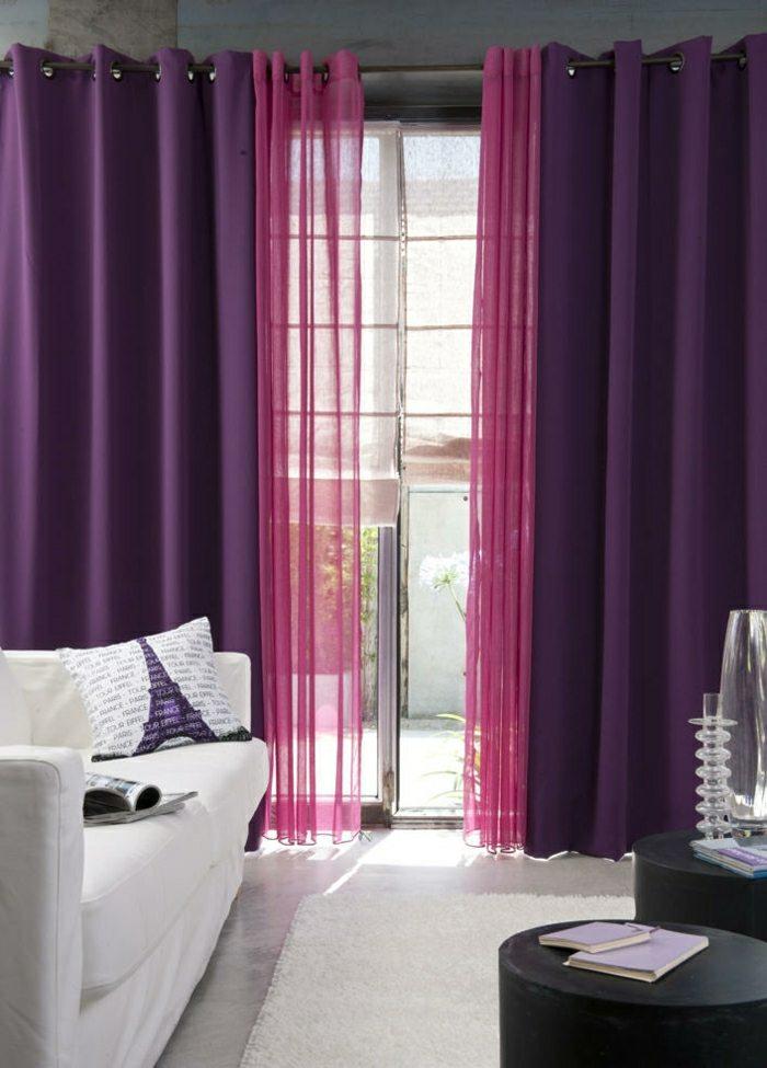 rideaux couleur violette