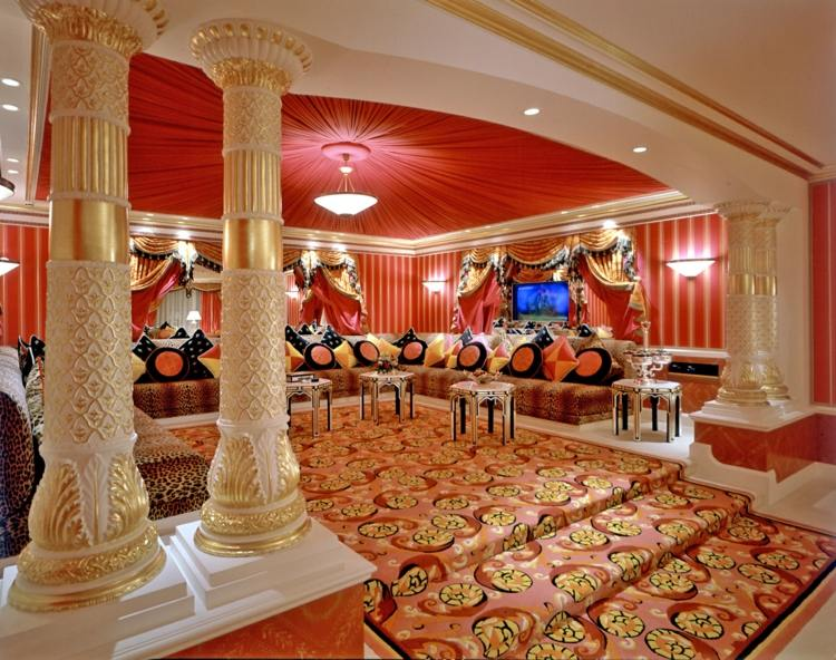 salon deco luxe style marocain