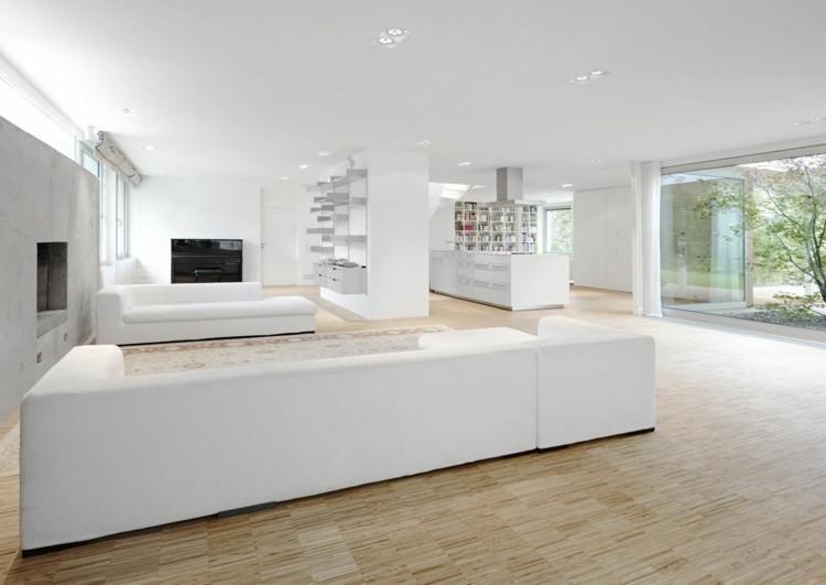 salon design blanc moderne