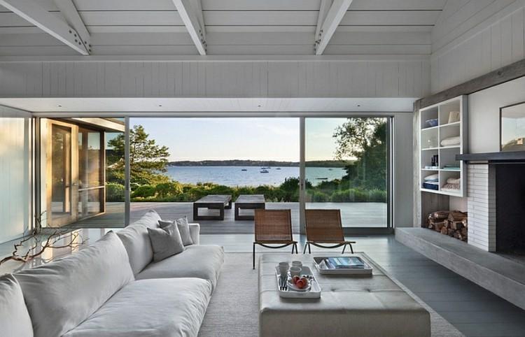 salon design contemporain gris