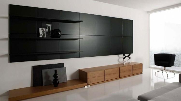 salon design meubles bois